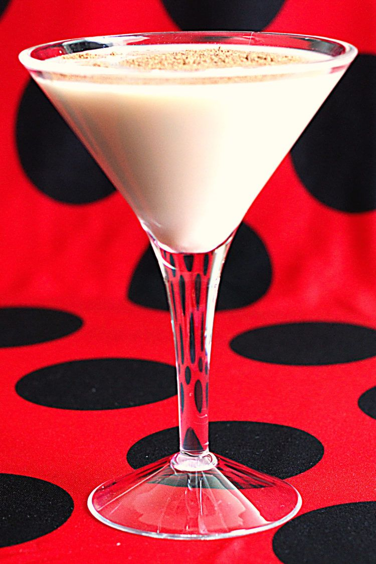 Brandy Alexander cocktail in martini glass
