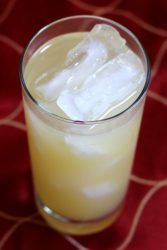 Harvey Wallbanger drink in tall glass