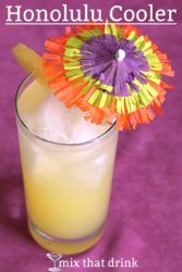 Honolulu Coller with cocktail umbrella