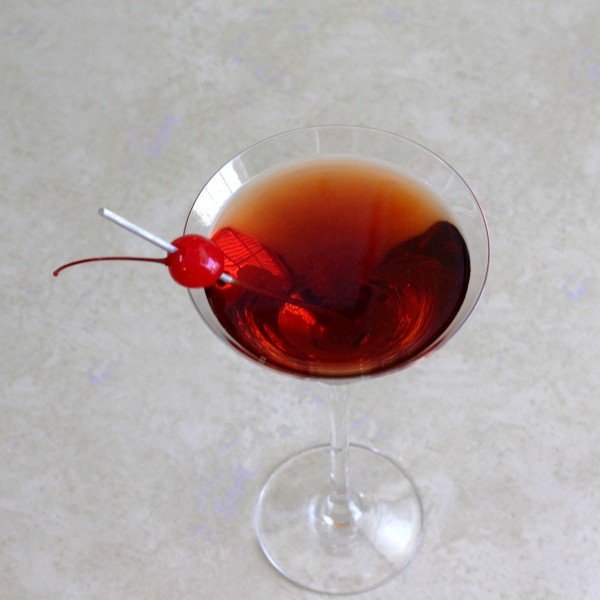 The Manhattan Cocktail Recipe: Sweet Vermouth, Rye, Bitters