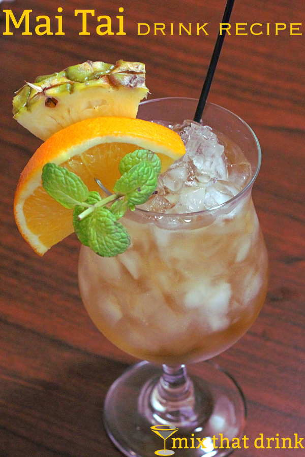 The Mai Tai drink recipe is a fruity classic, featuring rum, lime and grapefruit juice. It has several variations, and they're all delicious. | #cocktails #recipes