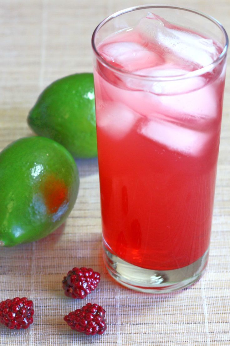 Raspberry-Lime Rickey drink recipe