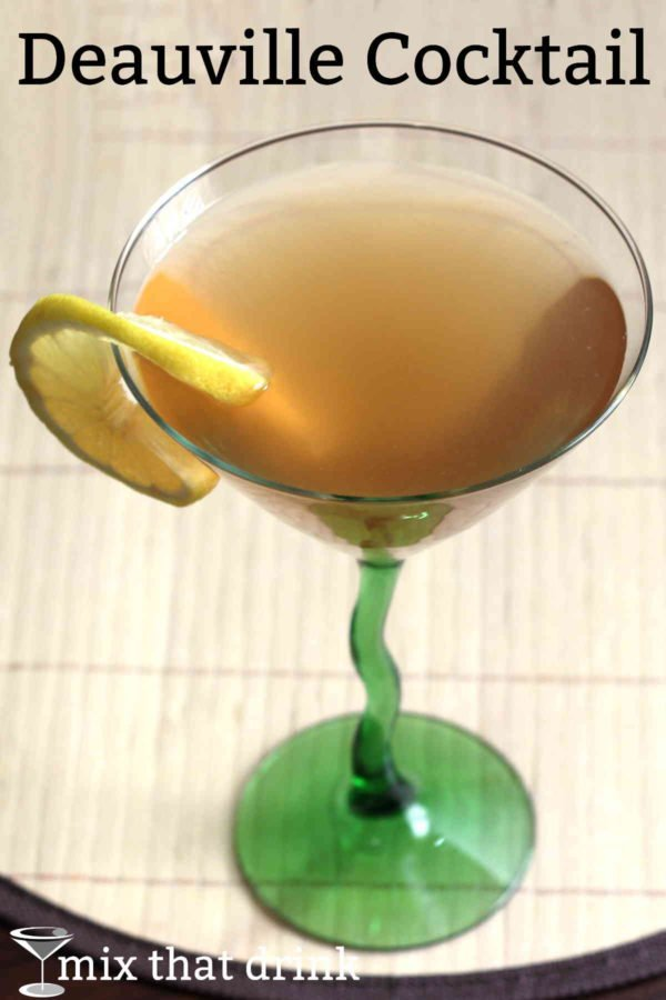 The Deauville Cocktail is a brandy based drink recipe that dates back to 1930, when it originated in New Orleans. It's very simple to make, and works well for a pitcher of pre-mixed drinks at a party.