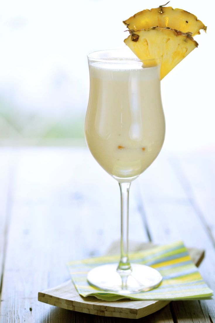 The Pina Colada drink recipe is a tropical delight. It features pineapple juice, coconut cream and rum, and it's wonderful blended or over ice.