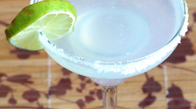 Margarita rimmed with salt