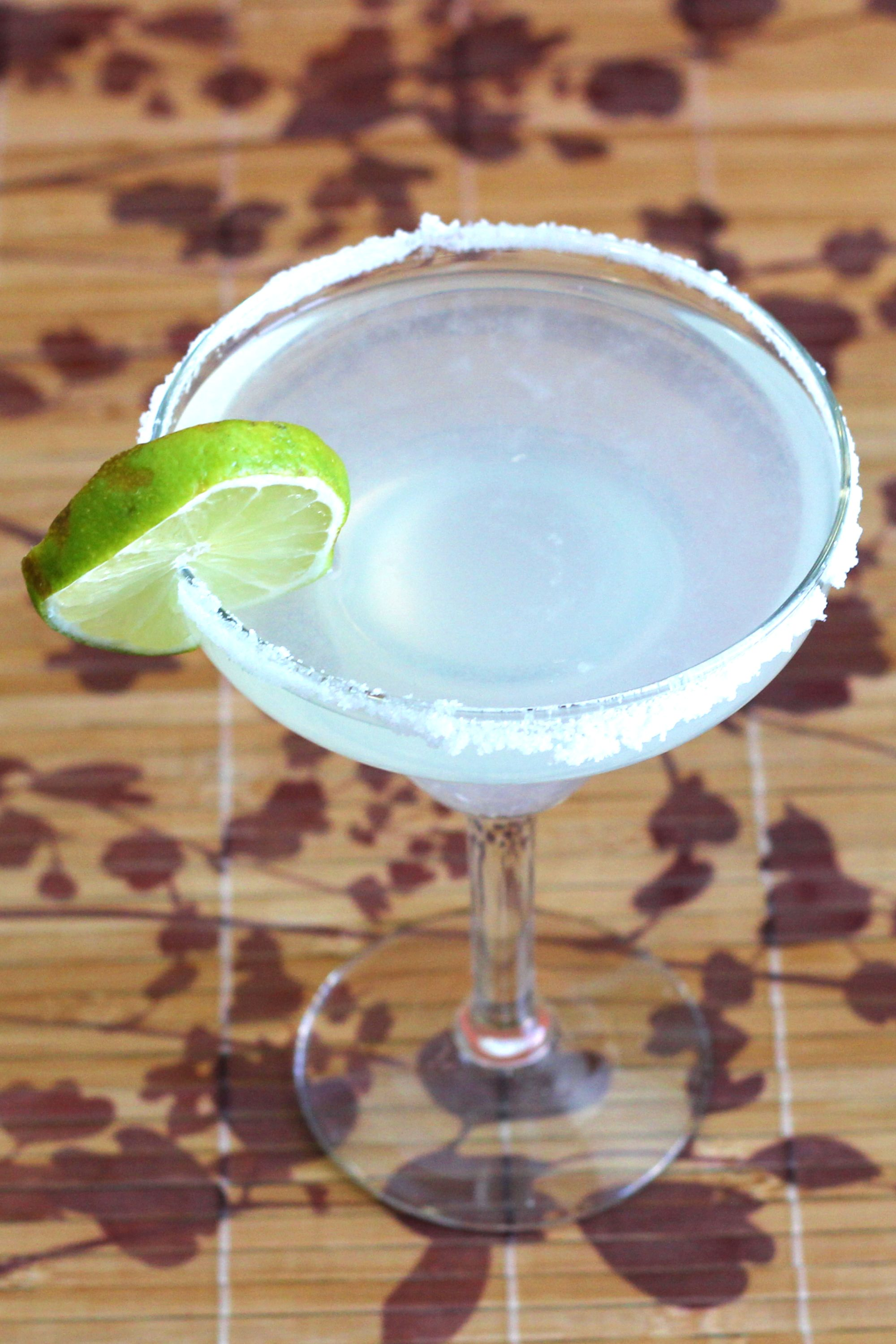 Margarita rimmed with salt