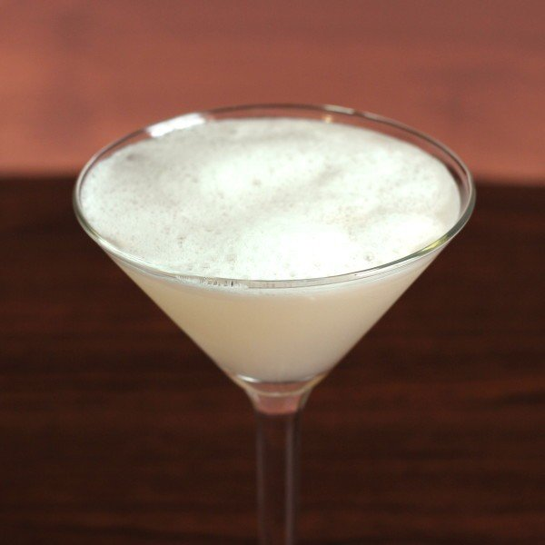 Harrison drink recipe: gin, egg white, lemon, lime, bitters, gomme syrup