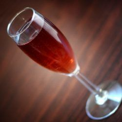 Kir Royale classic cocktail