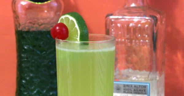 The Shady Lady drink is a tequila cocktail that features Midori and white grapefruit juice. It's sweet and refreshing. And with four ounces of fruit juice, you could even enjoy it with brunch.