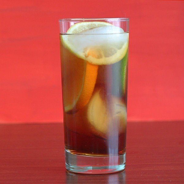 Pimm's Cup drink recipe: Pimm's No. 1 Cup, gin, lemonade, random fruit and/or veggies