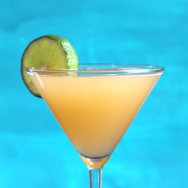 Bayou Cocktail Recipe: cognac, peach juice, lime