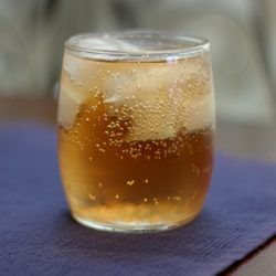 Halley's Comfort drink recipe: peach schnapps, Southern Comfort, club soda