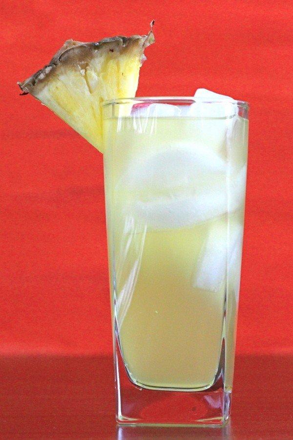 Big Bird cocktail recipe with banana schnapps, pineapple, orange.