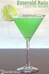 Emerald Rain cocktail with lime