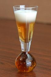 White Flag cocktail in cordial glass