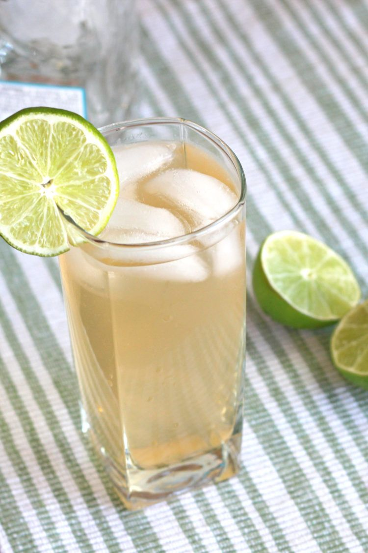 White Lizard drink with lime wheel