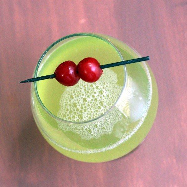 Geisha Delight drink recipe: Midori, Galliano, Cointrea, Coconut Rum, Pineapple Juice