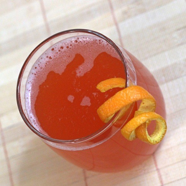 Hamlet drink recipe with vodka, Campari and orange juice.
