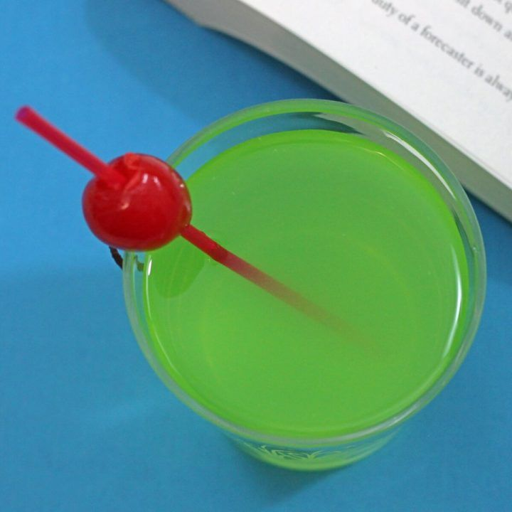 Tired of Christmas drinks with cute names and more peppermint schnapps than you can drink in a month? Then the Grinch cocktail is the one for you, with Midori, lemon juice and simple syrup.