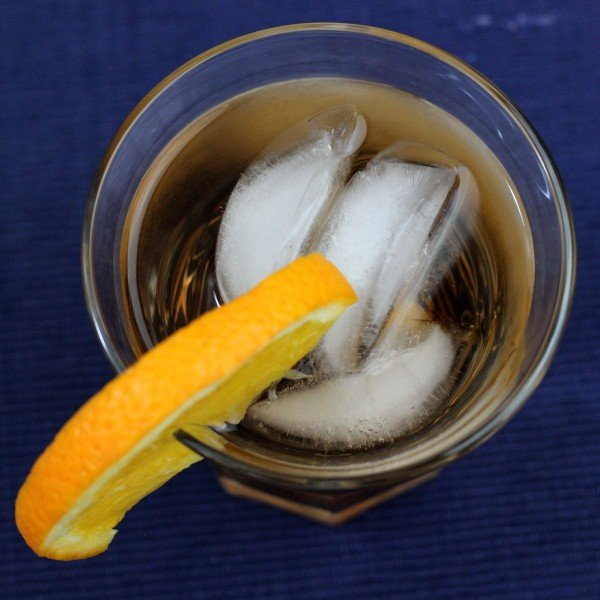 King of Noble Drink Recipe: Apple Brandy, Gin, Vermouth, Triple Sec