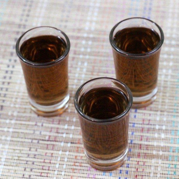 Oil Slick drink recipe with Jägermeister and Rumple Minze.
