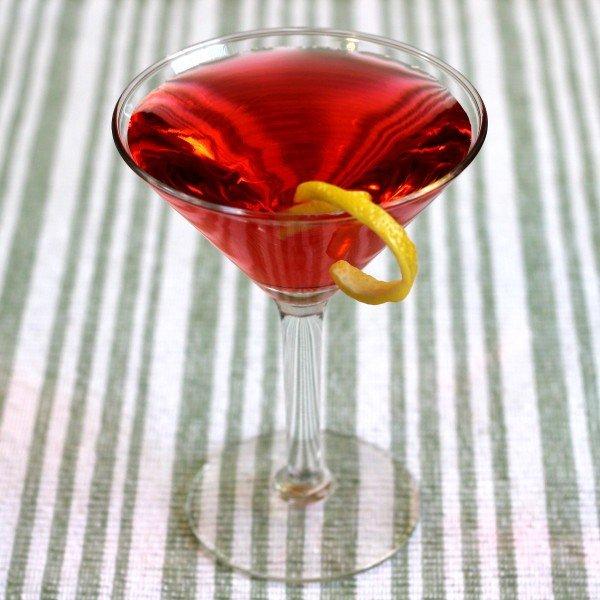 Pacifist cocktail recipe: Brandy, Rum, Lemon Juice, Raspberry Syrup