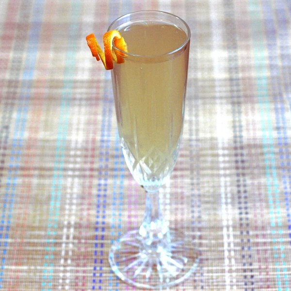 The San Remo cocktail blends champagne with white grapefruit juice and orange liqueur. It's super easy to pour (no shaking, no stirring) and perfect for parties. Great way to enjoy leftover champagine, too.