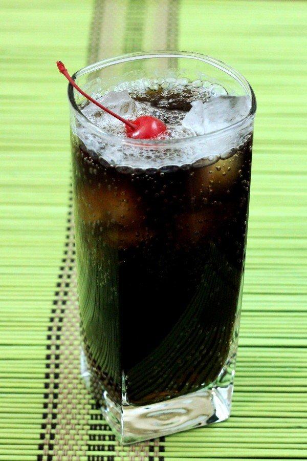 Joe Collins drink recipe: Scotch, Coke, Lemon Juice, Simple Syrup