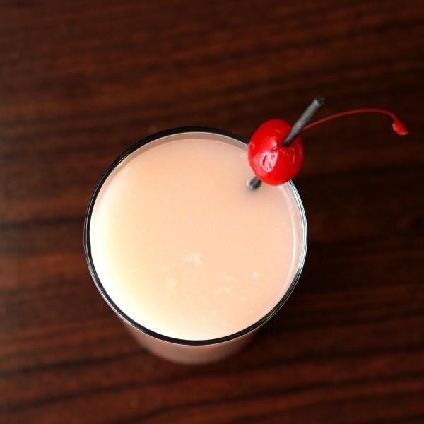 Lychee Nut Cocktail recipe: lychee fruit, cherry brandy, rum, sour mix, sugar