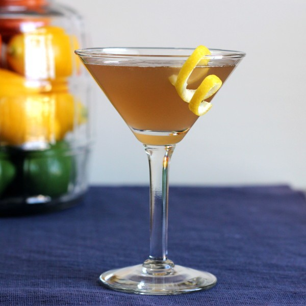 Nicky Finn drink recipe: Pernod, Cointreau, Brandy, Lemon