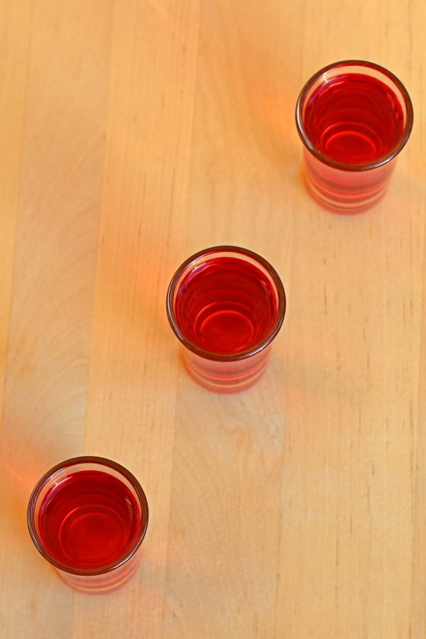 Red Hot Shot drink recipe with Aftershock cinnamon schnapps and tequila.