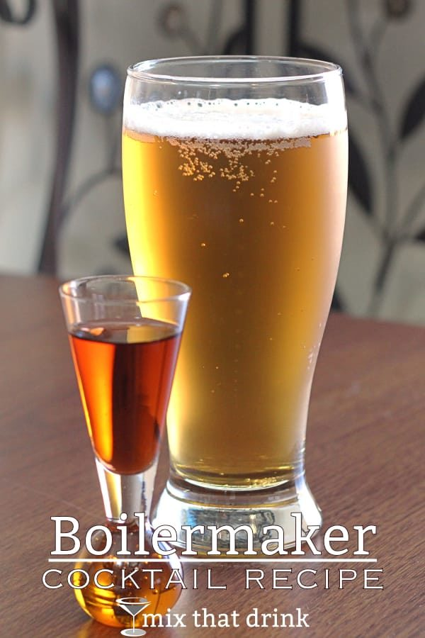 The Boilermaker is a very classic old cocktail. It's basically a shot of liquor served with a glass of beer. You can drop the shot into the beer and chug it, or you can drink the shot quickly and then sip the beer slowly. #mixthatdrink #beercocktails #beer #drinks