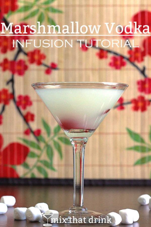 You can make this delicious Marshmallow Vodka Infusion in less than a day, and it's so delicious. It's both tastier and prettier than the marshmallow vodka you can buy in stores, and you can use it in just about any sweet cocktail that calls for vodka.