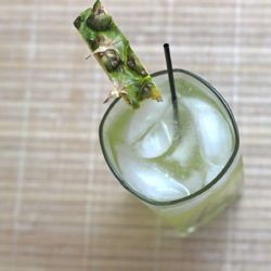 Oh My God cocktail recipe with sour apple schnapps, Southern Comfort and pineapple juice.