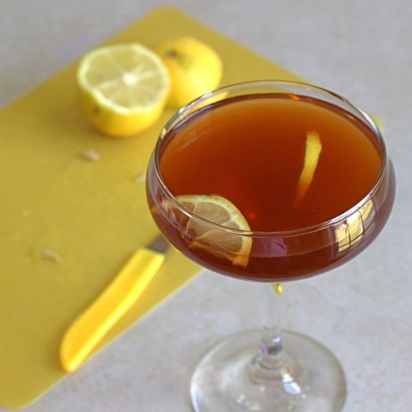 R.A.F. Cocktail recipe with applejack, apricot brandy and lemon juice.