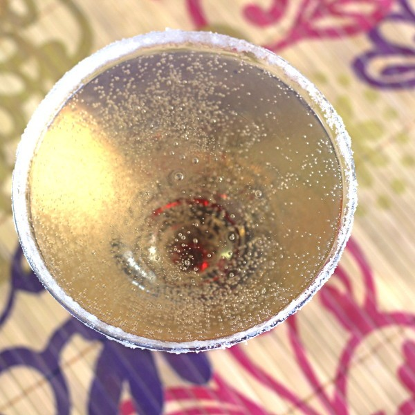Caribou Martini recipe with Stoli Kafya Vodka and champagne