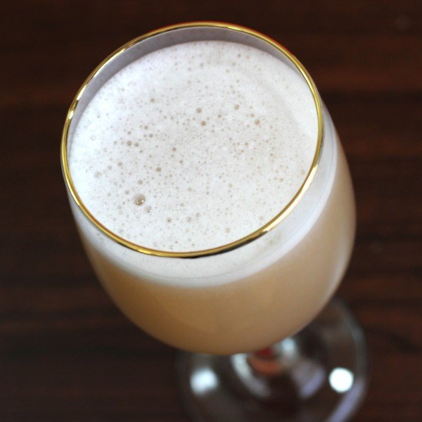 Round Robin cocktail recipe: absinthe, brandy, egg-white