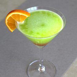 Safari Juice drink recipe with Cointreau, Midori, orange juice and grenadine.