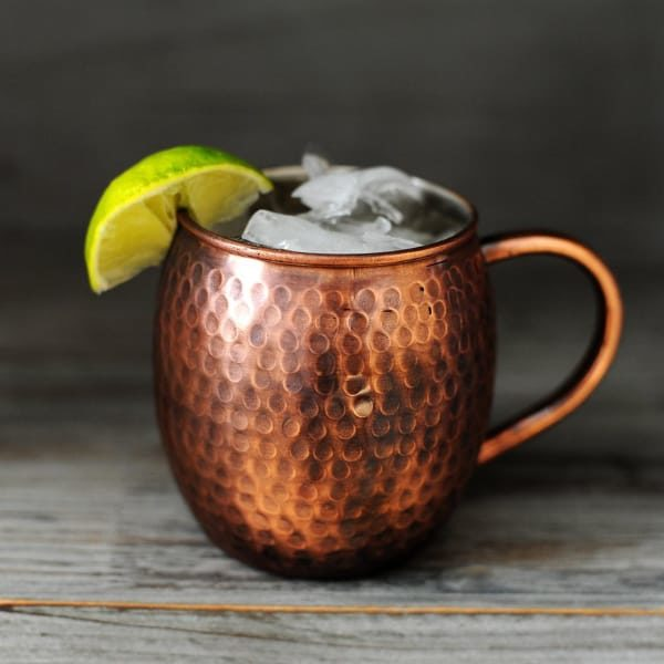 Antique Hammered Copper Moscow Mule Mug
