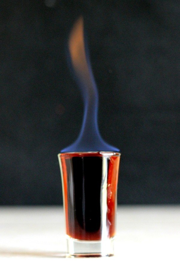 Light the Eliminator shooter on fire before serving. Make sure guests blow it out before drinking!