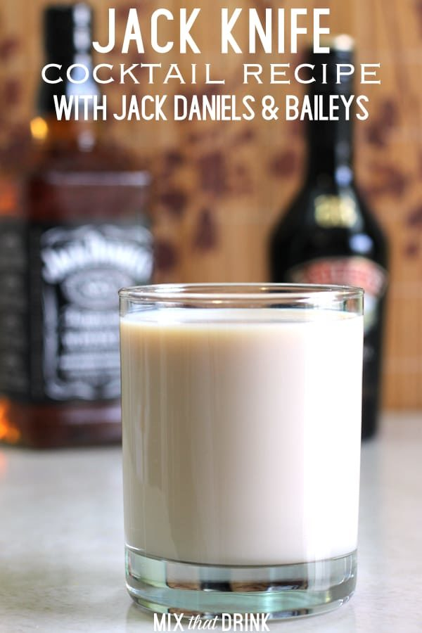 The Jack Knife features Jack Daniels and Baileys Irish Cream. It's a simple little drink that makes a great nightcap.