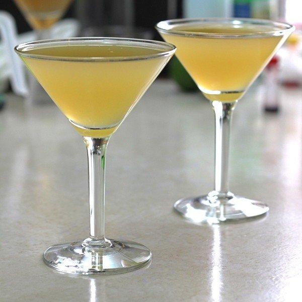 Tiger Juice cocktail recipe with Canadian whiskey, lemon juice and orange juice.