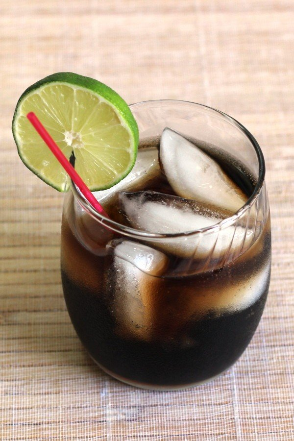 Stock Market Crash drink recipe with Jack Daniels, Yukon Jack, Southern Comfort, Wild Turkey, black rum and cola.