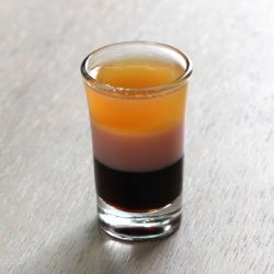 T-52 Shooter drink recipe featuring Tequila Rose strawberry cream liqueur.