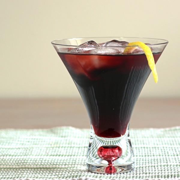 Desiree Cocktail recipe with- creme de cassis and Stolichnaya vodka.