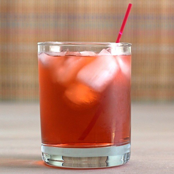Sand Dance drink recipe with cherry brandy, cranberry juice and whiskey.