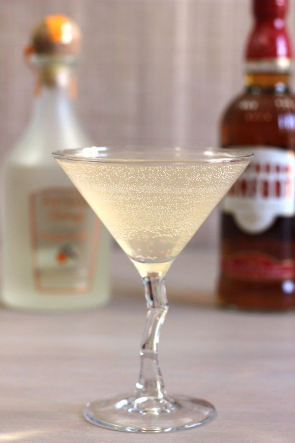 Sax on the Beach drink recipe with Southern Comfort, Patron Citronage and sparkling water.