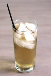 Queen Soda drink in tall glass with ice