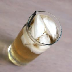 Queen Soda drink recipe with butterscotch schnapps and cream soda.