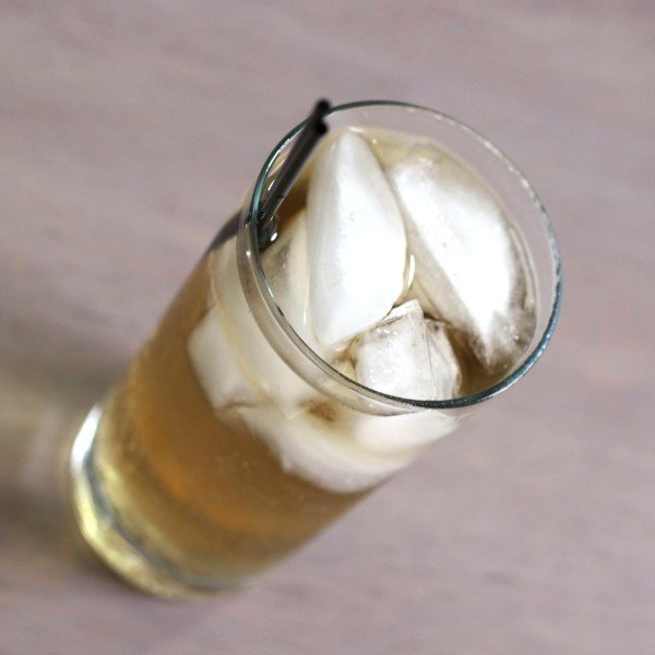 Queen Soda drink recipe with butterscotch schnapps and cream soda.